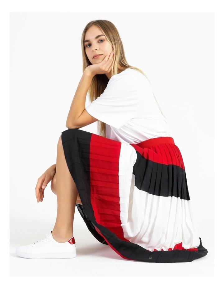 Crepe Pleated Midi Skirt image 2