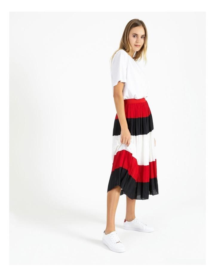 Crepe Pleated Midi Skirt image 3