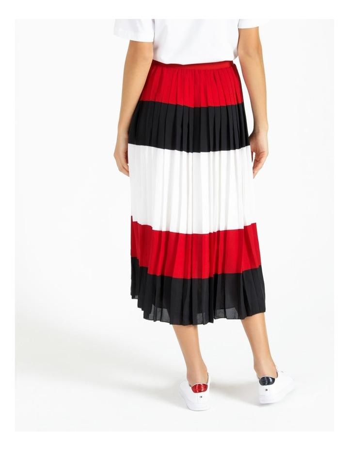 Crepe Pleated Midi Skirt image 4
