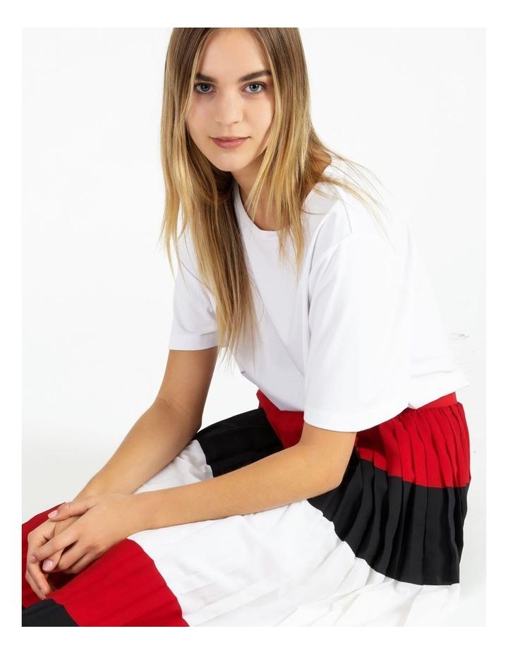 Crepe Pleated Midi Skirt image 5