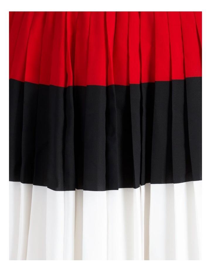 Crepe Pleated Midi Skirt image 6