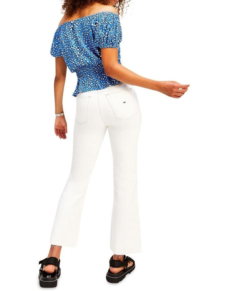 Harper Save SP White High Rise Straight Flare Jean image 2