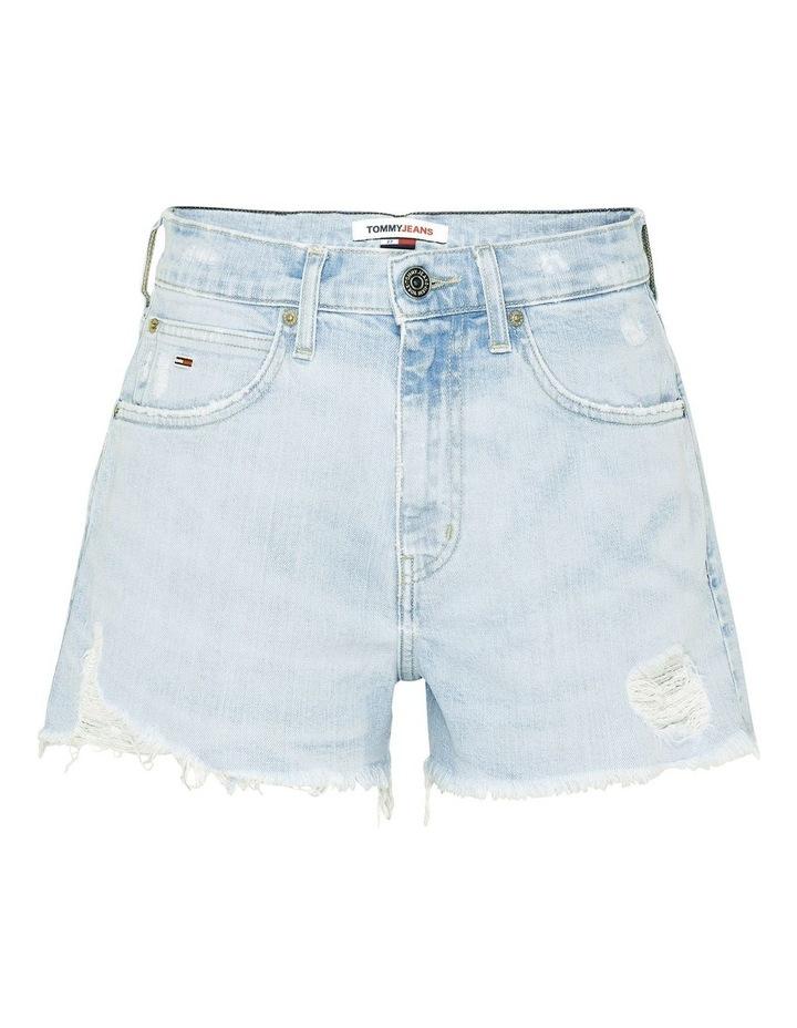 Tommy Badge Distressed Denim Hotpants image 4