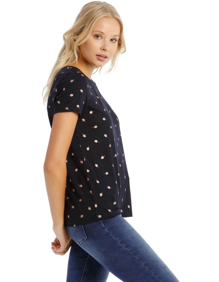 New Isabella Short Sleeve Foil Top image 2