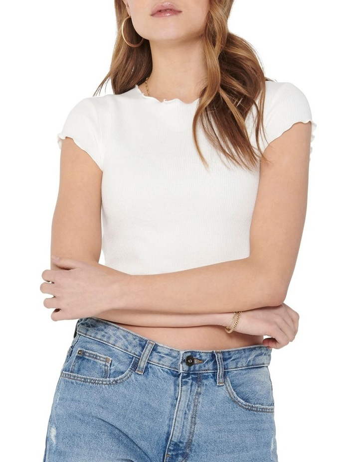 Kitty Short Sleeve Cropped Top image 4