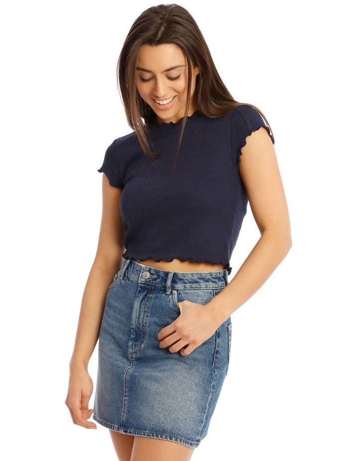 Kitty Short Sleeve Cropped Top image 1