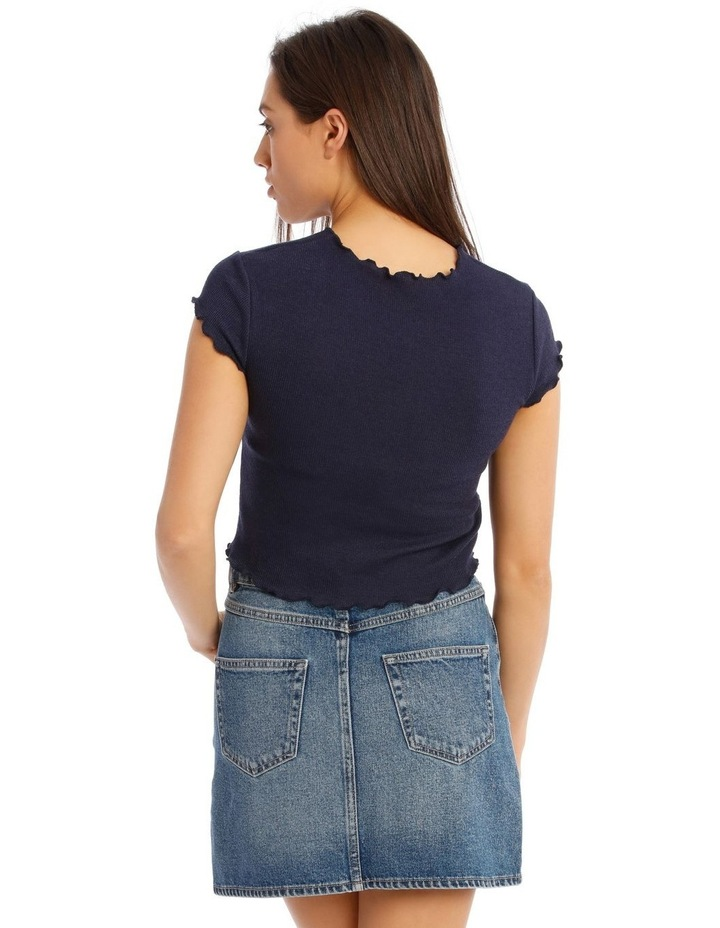 Kitty Short Sleeve Cropped Top image 3