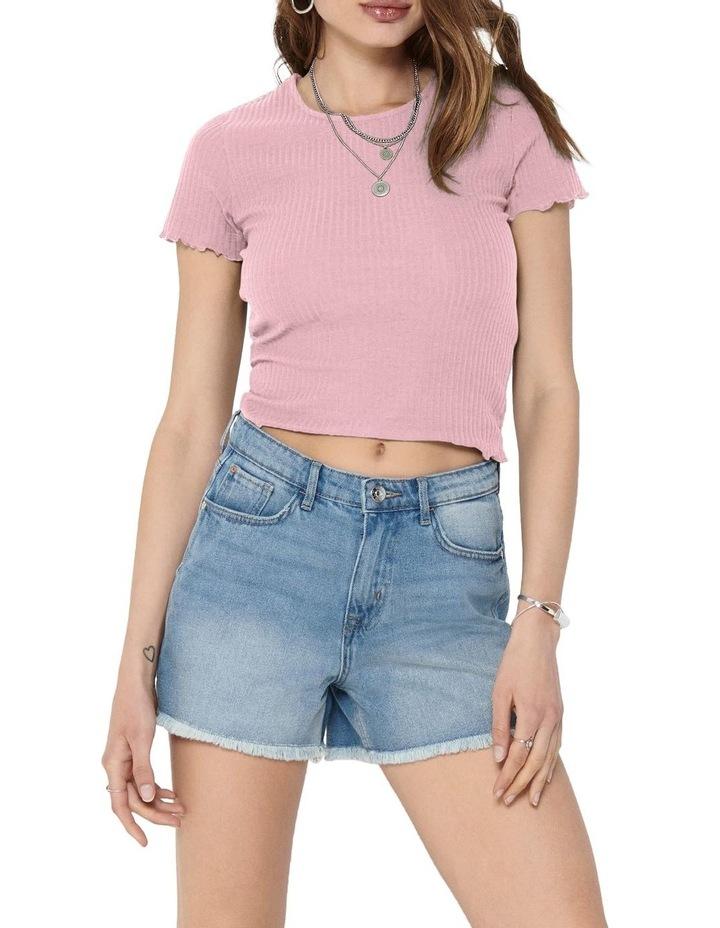 Emma Short Sleeve Short Top Soft Pink image 1