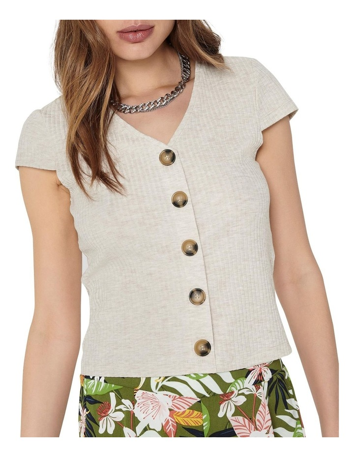 Nella Short Sleeve Button Top image 4
