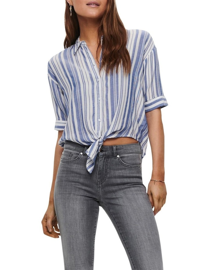 Holiday Life Short Sleeve Knot Top White image 1
