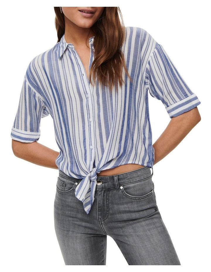 Holiday Life Short Sleeve Knot Top White image 4