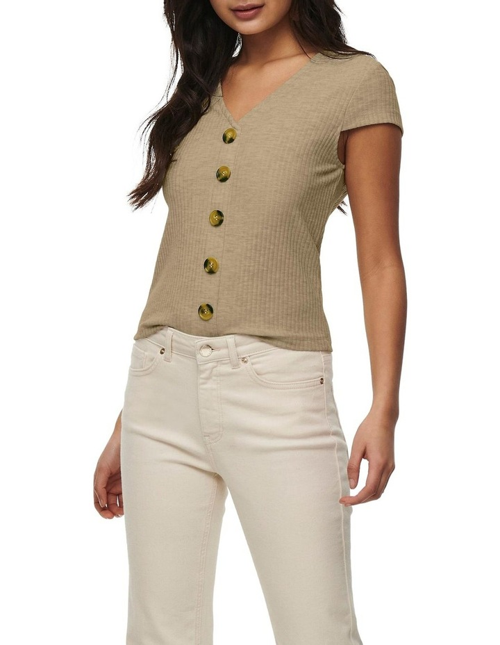 Nella Short Sleeve Button Top image 1
