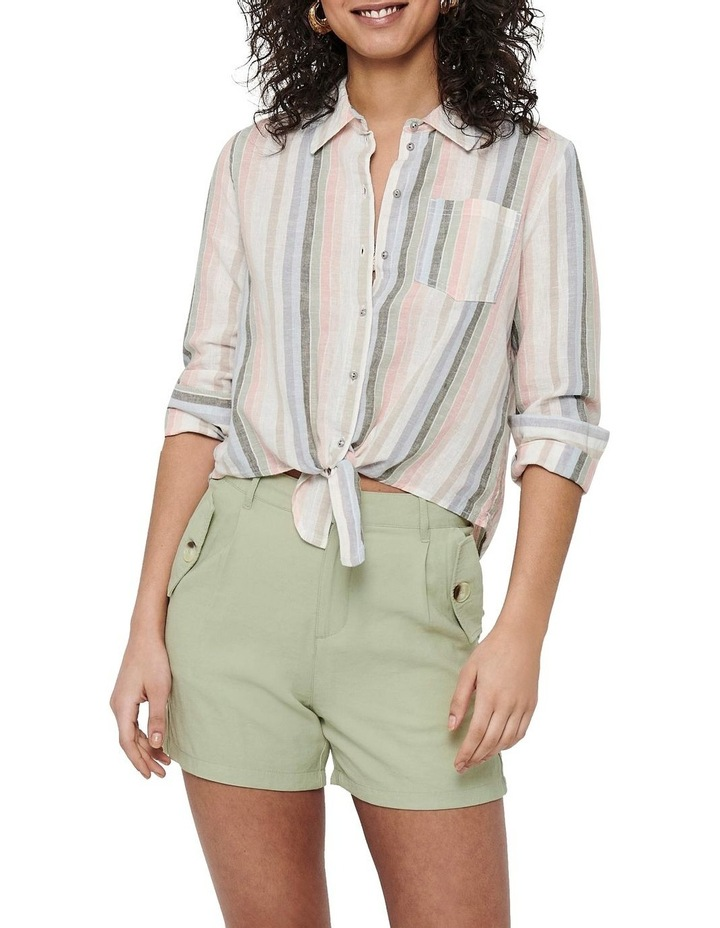 Lecey-Stacy Long Sleeve Stripe Knot Shirt image 1