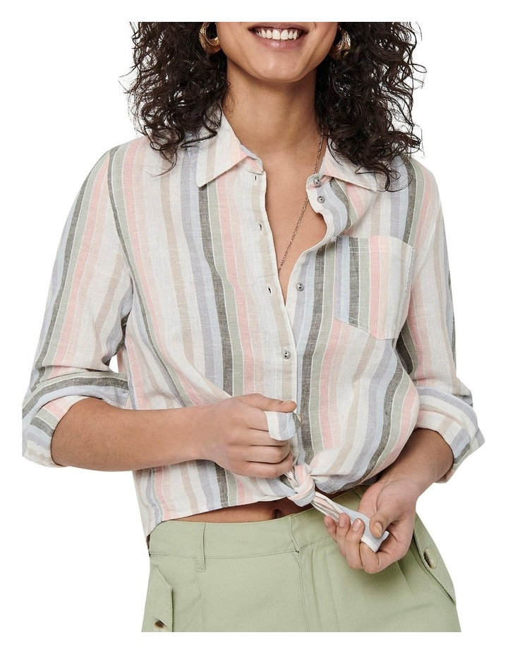 Lecey-Stacy Long Sleeve Stripe Knot Shirt image 4