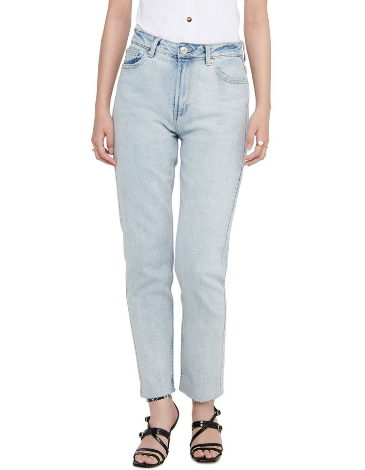 Emily High-Waist Cropped Straight Fit Jeans image 1