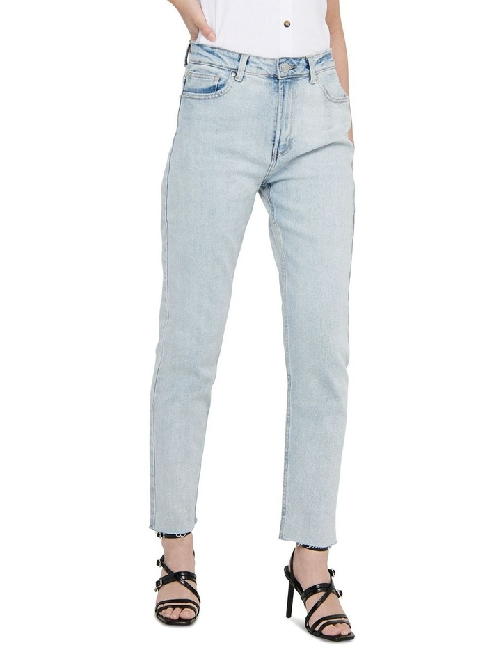 Emily High-Waist Cropped Straight Fit Jeans image 3