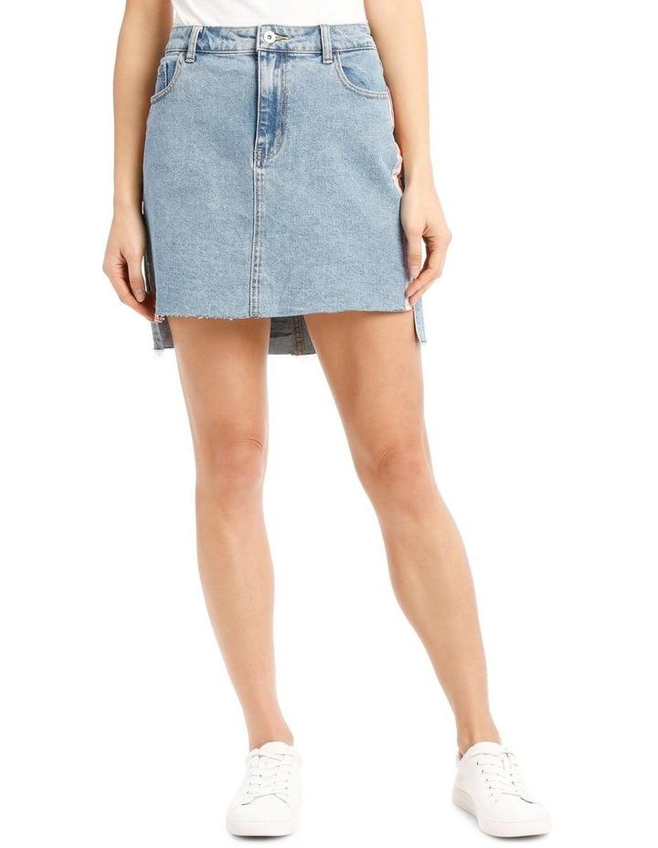 Elifa Midi Ribbon Denim Skirt image 1