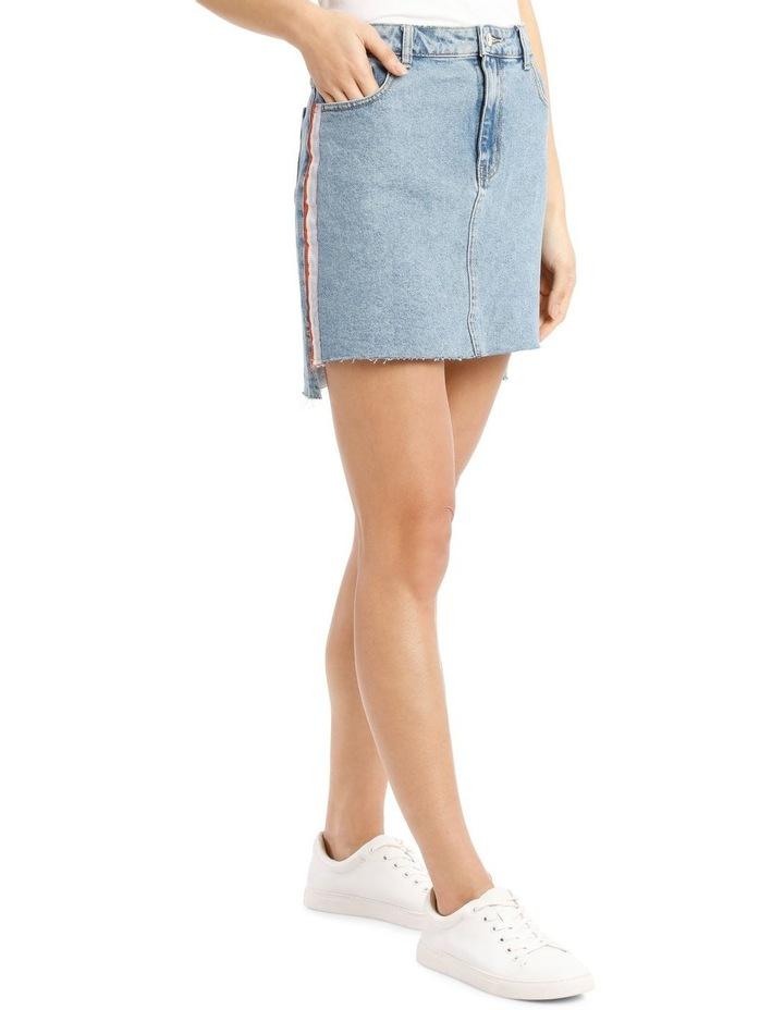 Elifa Midi Ribbon Denim Skirt image 2