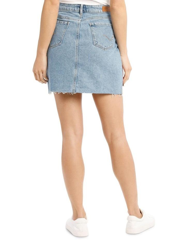 Elifa Midi Ribbon Denim Skirt image 3
