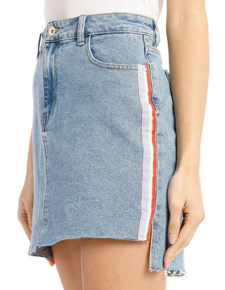 Elifa Midi Ribbon Denim Skirt image 4