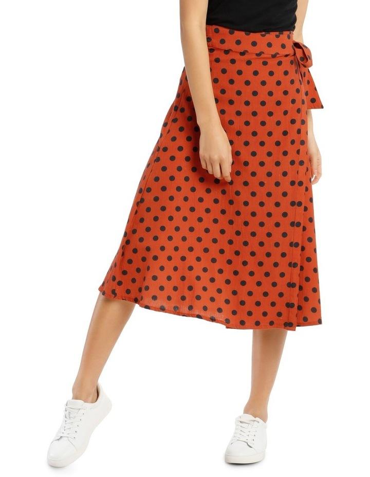 Dotty Wrap Midi Skirt image 1