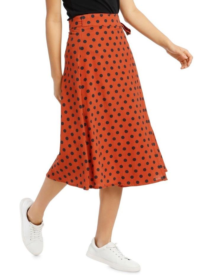 Dotty Wrap Midi Skirt image 2