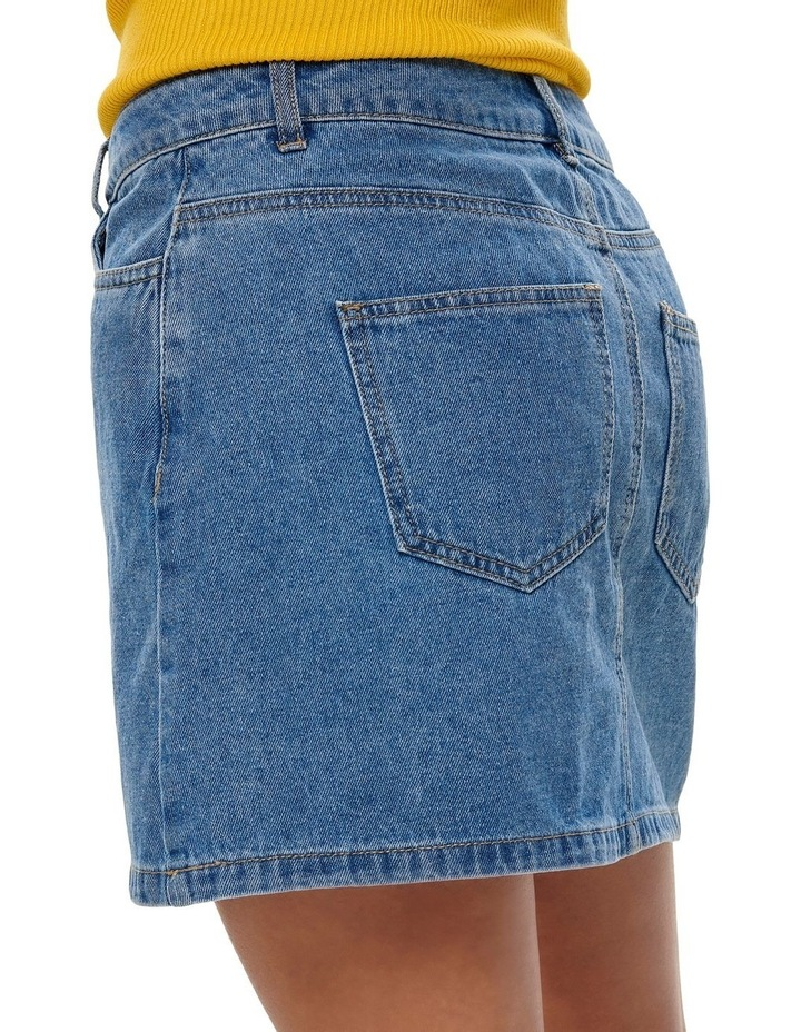 Button Denim Skirt image 5