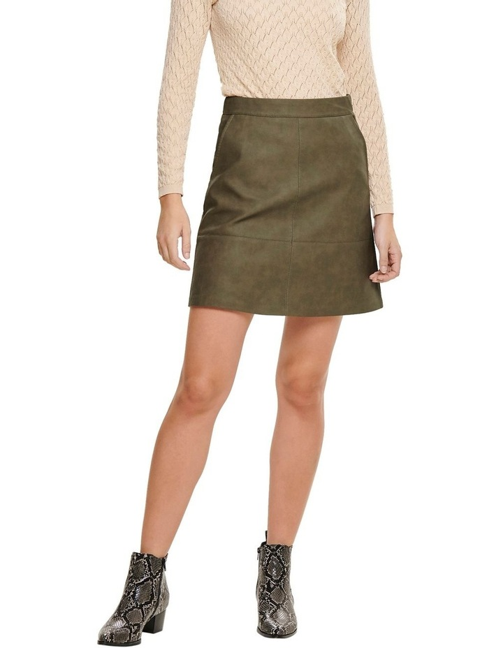 Lisa Faux Leather Skirt image 1
