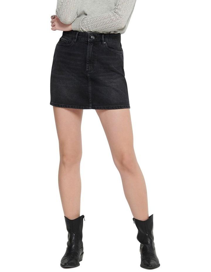 Rose A-Shape Denim Skirt image 1