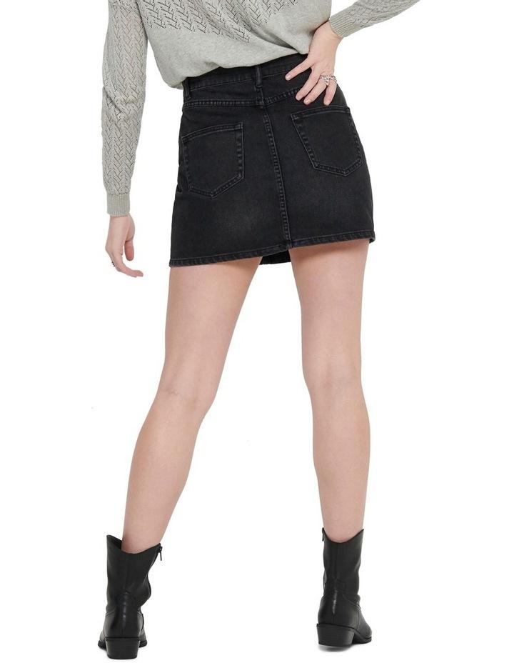 Rose A-Shape Denim Skirt image 2