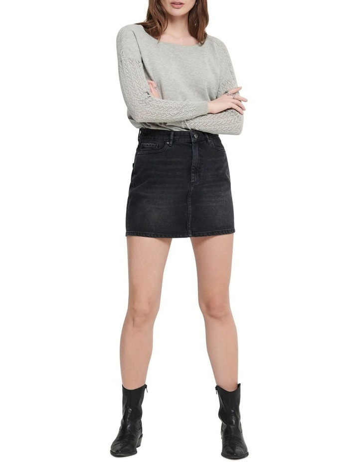 Rose A-Shape Denim Skirt image 3