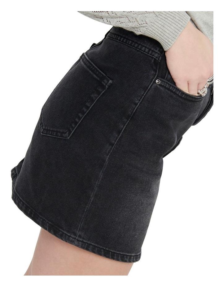Rose A-Shape Denim Skirt image 4