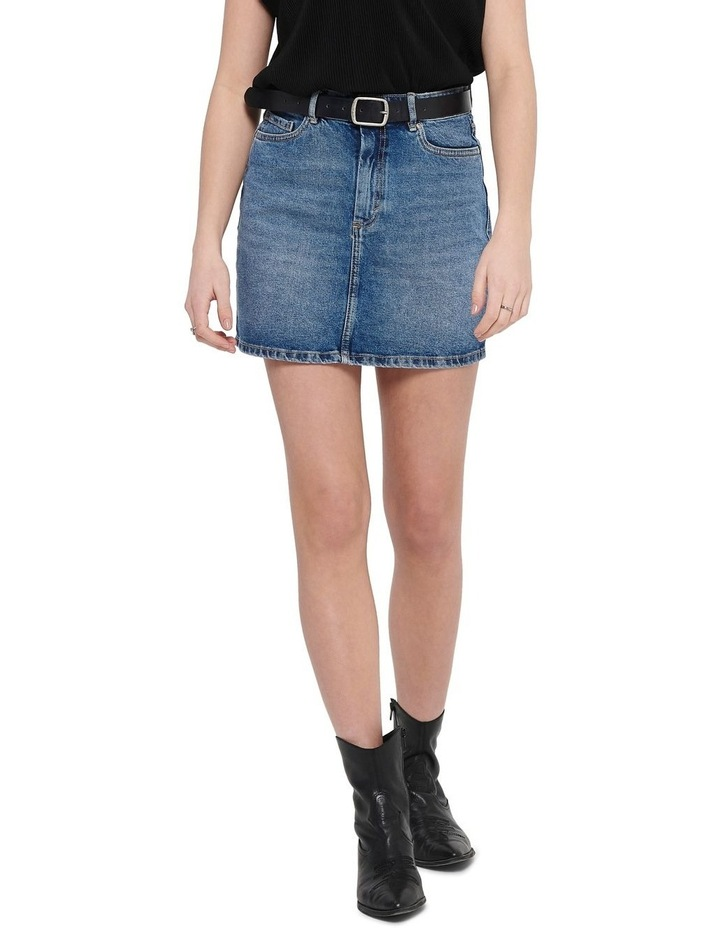 Rose A-Shape Denim Skirt image 1