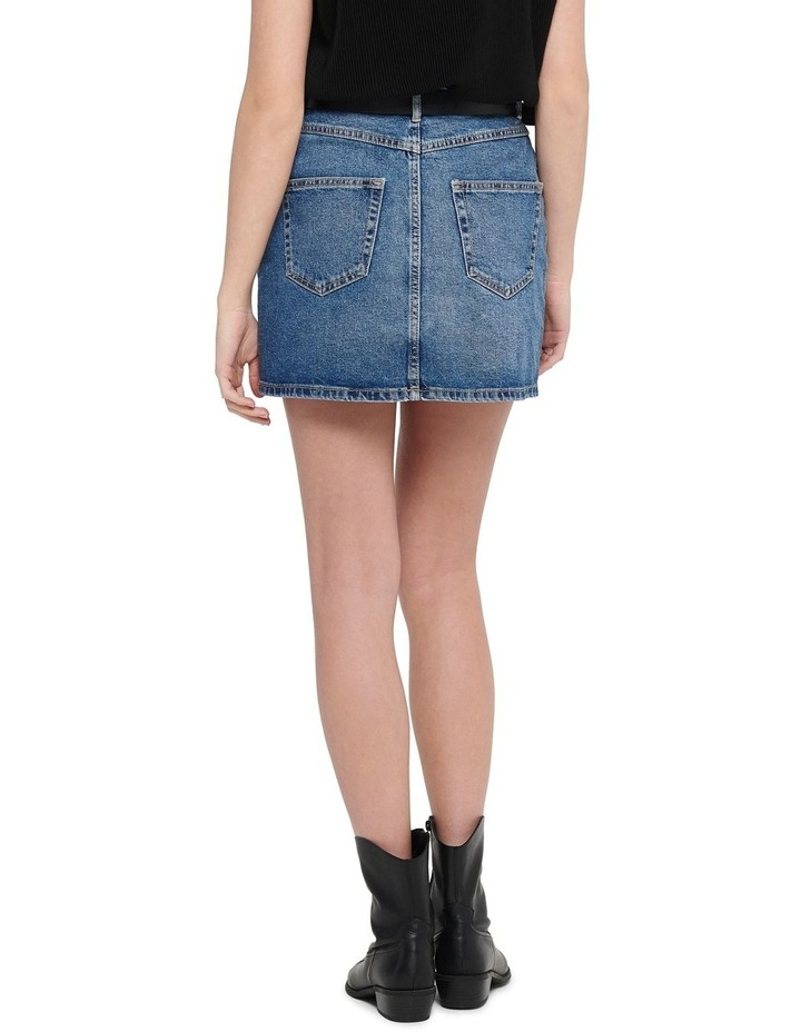 Rose A-Shape Denim Skirt image 2