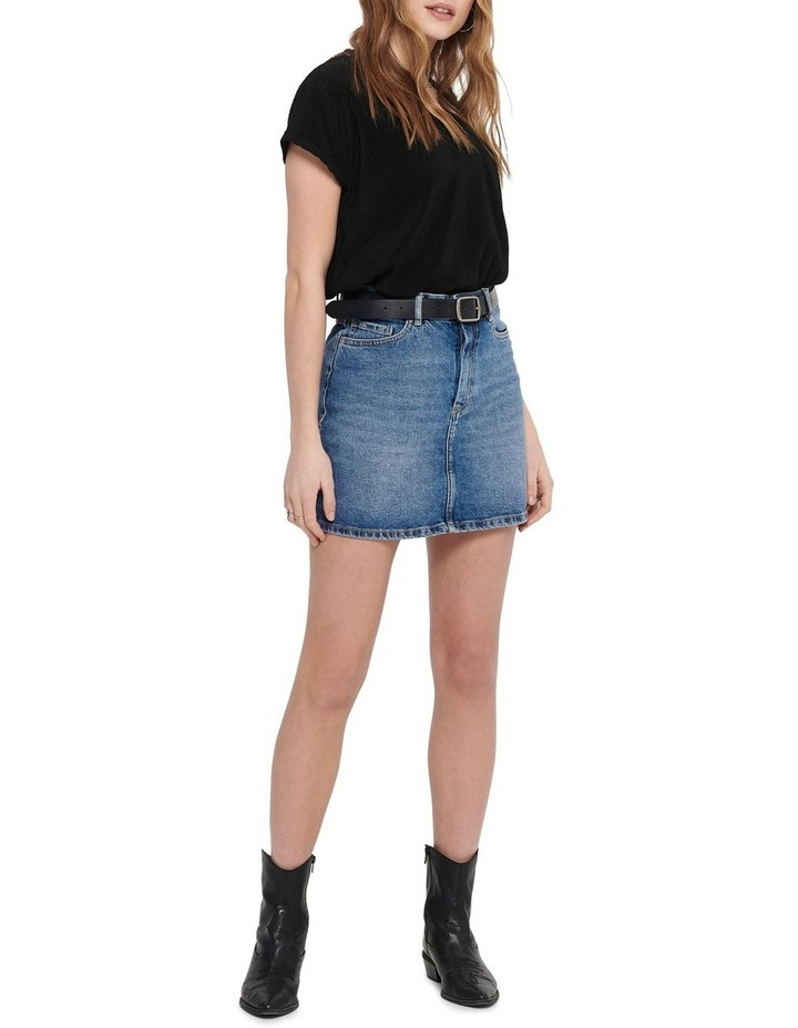 Rose A-Shape Denim Skirt image 3