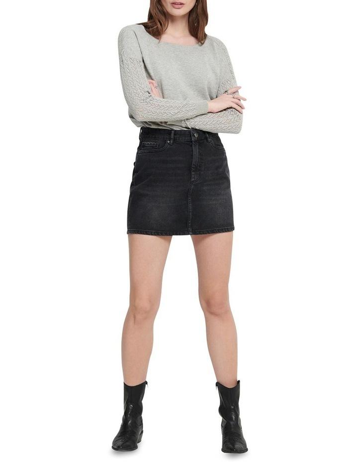 Rose Life A Shape Denim Skirt Black Denim image 3