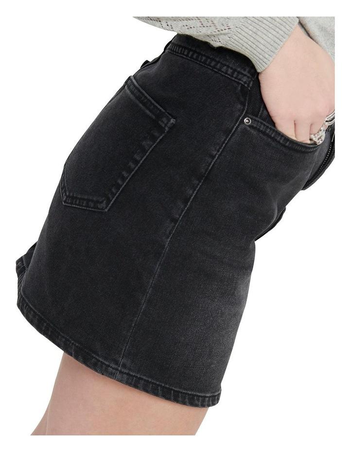 Rose Life A Shape Denim Skirt Black Denim image 4