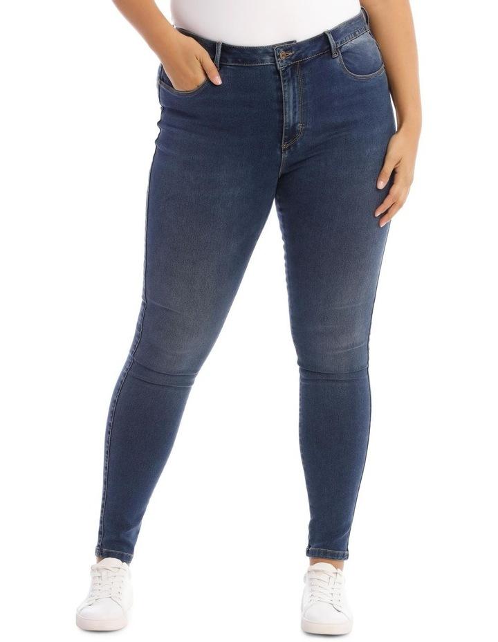 Augusta Dark Navy High Waisted Skinny Jean image 1