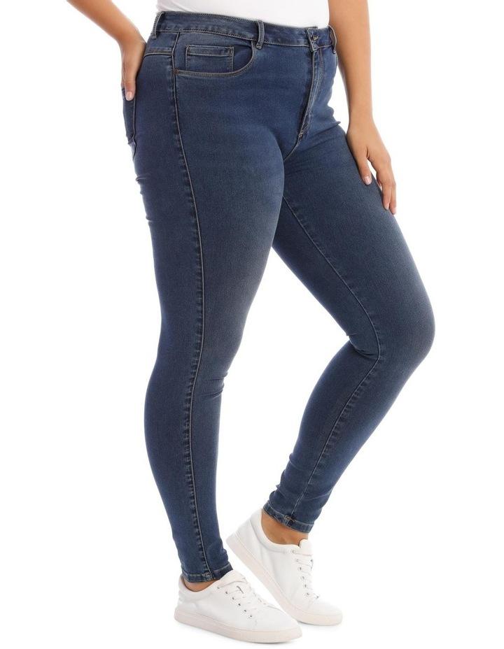 Augusta Dark Navy High Waisted Skinny Jean image 2
