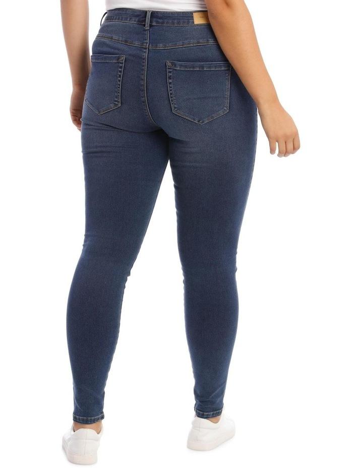 Augusta Dark Navy High Waisted Skinny Jean image 3