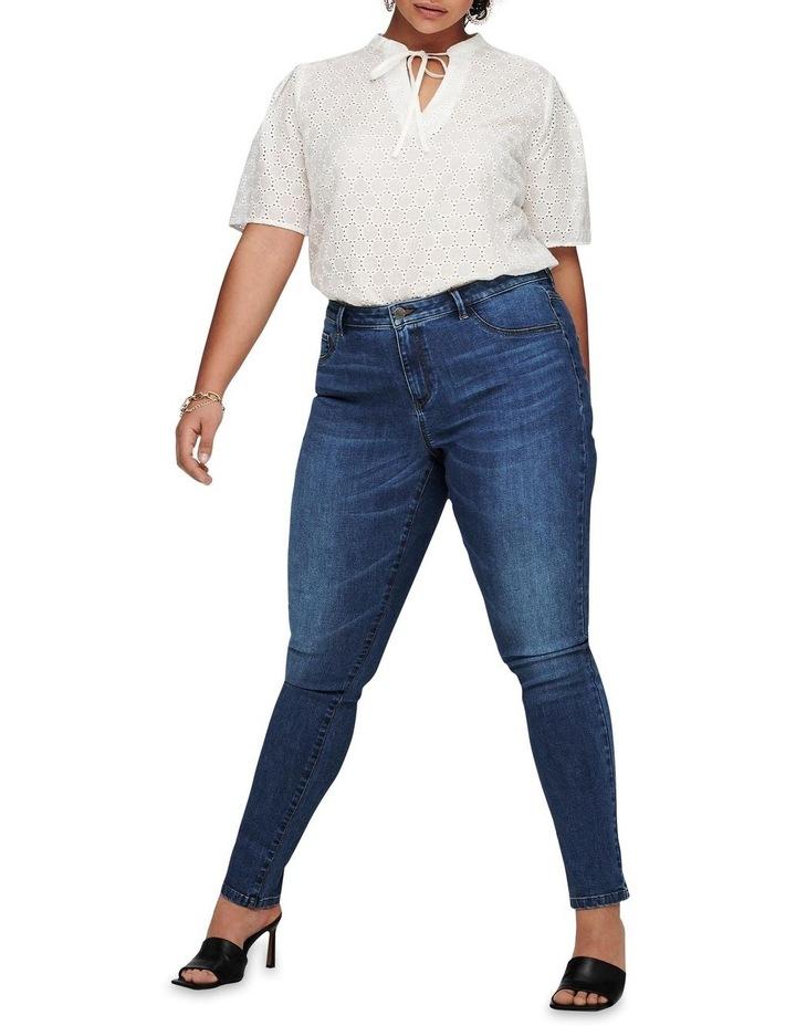 Floria Life Regular Medium Blue Denim Skinny Jean image 3