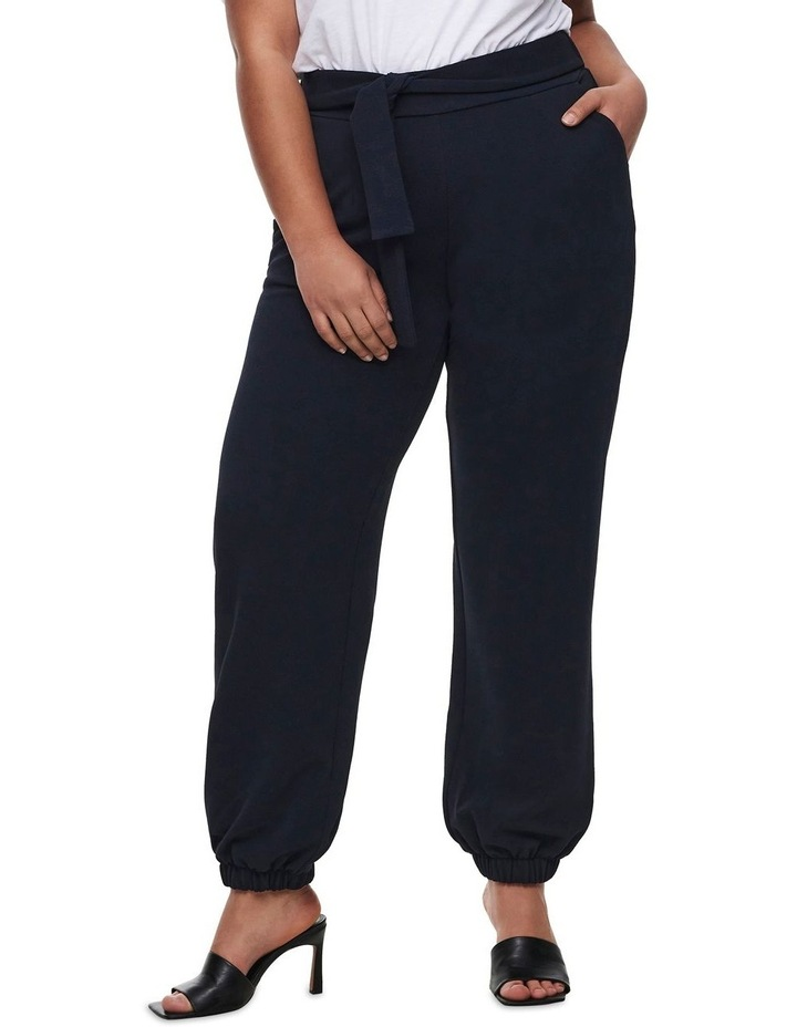 Betty Belted Navy Cuffed Pants image 1