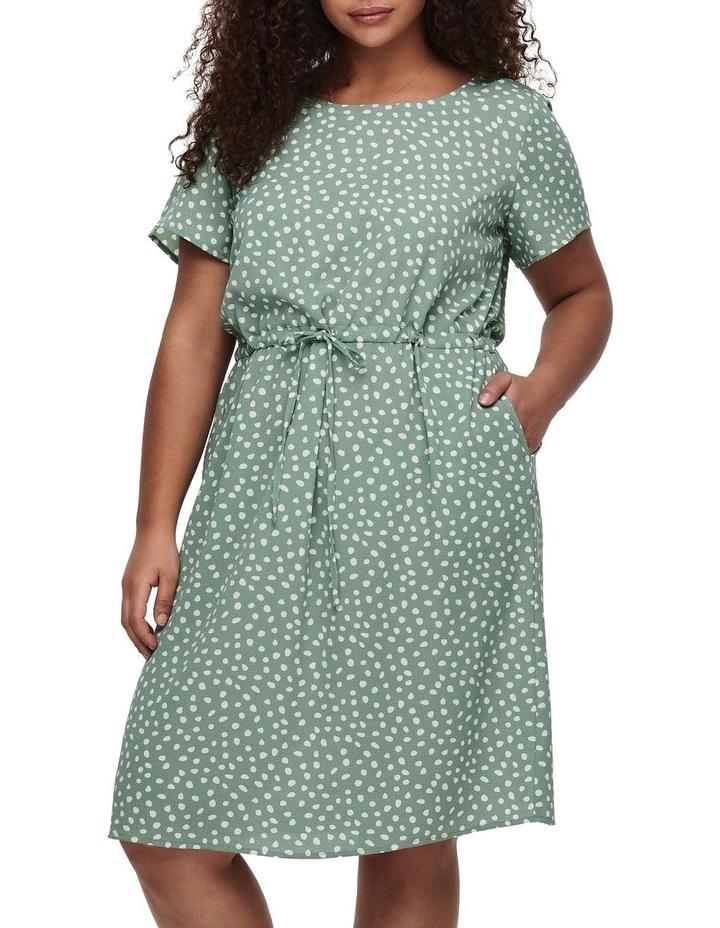 Chinois Karo Dots Tunic Dress Green image 1