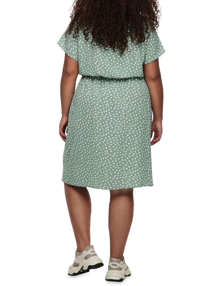 Chinois Karo Dots Tunic Dress Green image 2