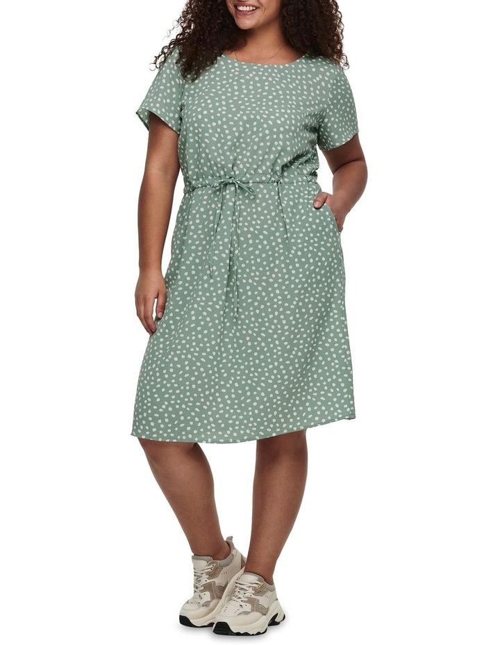 Chinois Karo Dots Tunic Dress Green image 3