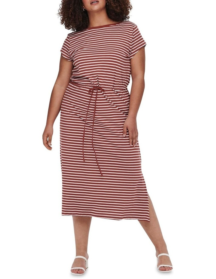 April Short Sleeve String Maxi Dress image 1