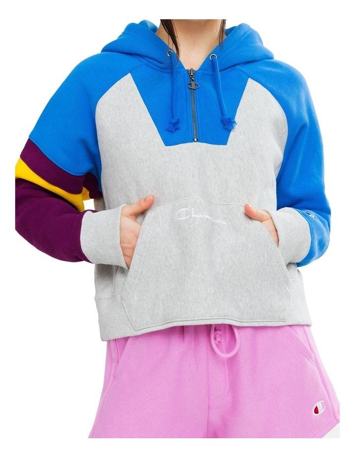 Colorblock Reverse Weave Oversized Sweat image 1