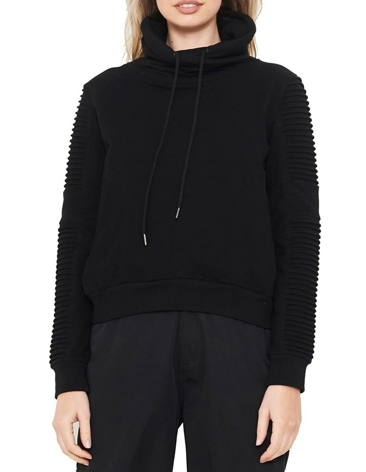 Adeline Funnel Neck Sweater With Pin-Tuck Sleeve image 1