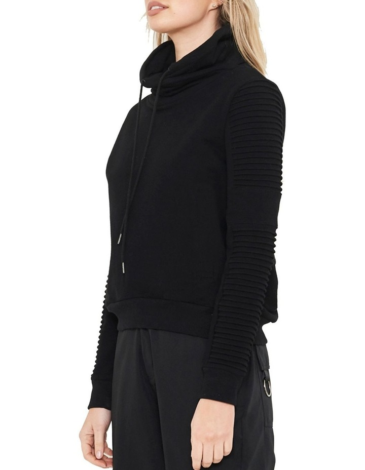 Adeline Funnel Neck Sweater With Pin-Tuck Sleeve image 2
