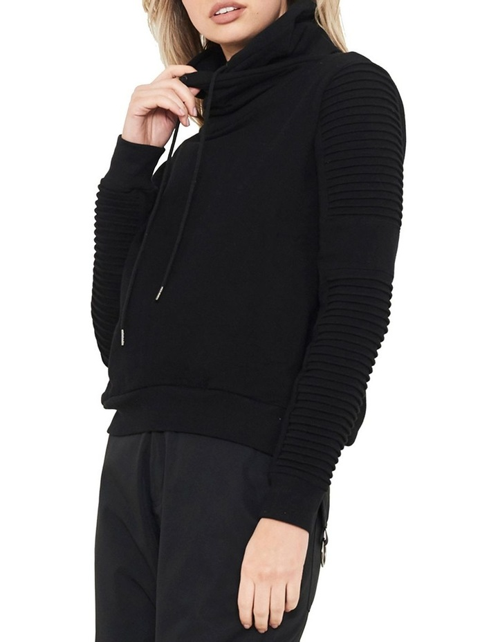 Adeline Funnel Neck Sweater With Pin-Tuck Sleeve image 3